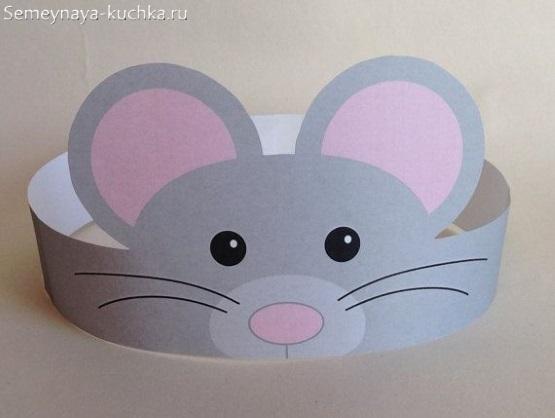 детская маска мышь своими руками