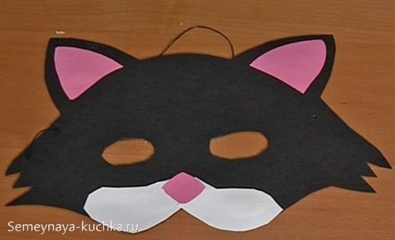 детская маска кот сделать самим
