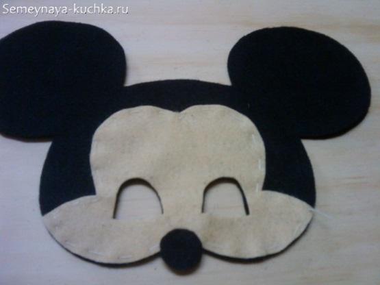 детская маска микки маус сделать самим