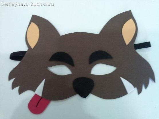 детская маска котик своими руками