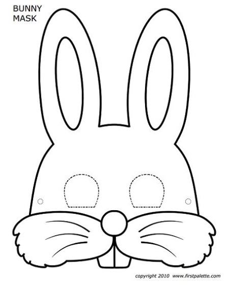 маска заяц шаблон выкройка