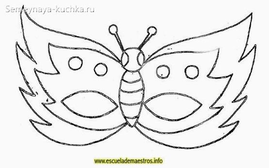 маска бабочка детская