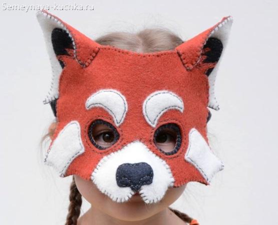 белка лиса детская маска своими руками