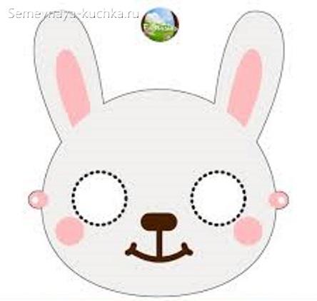 маска заяц простой шаблон
