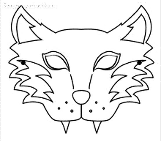 шаблон маска волк