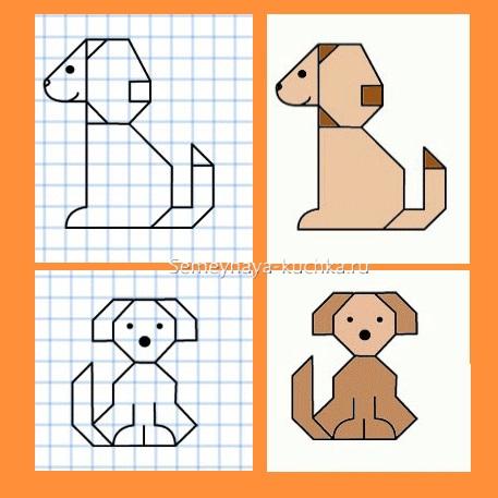 графический диктант собака
