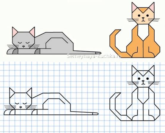 графический диктант котики