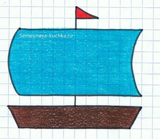 графический диктант с прерыванием линии