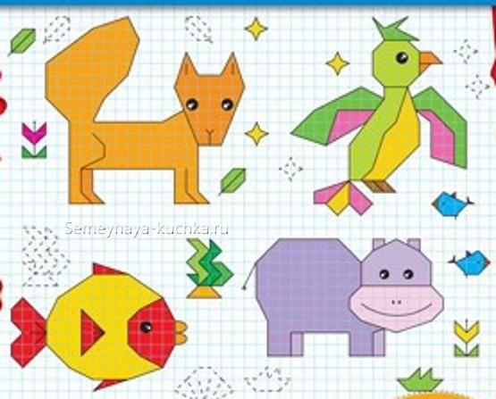 графический диктант для детей по клеточкам