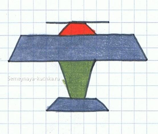 графический диктант с косой диагональю по клеточкам