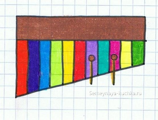 веселый графический диктант с узловыми точками