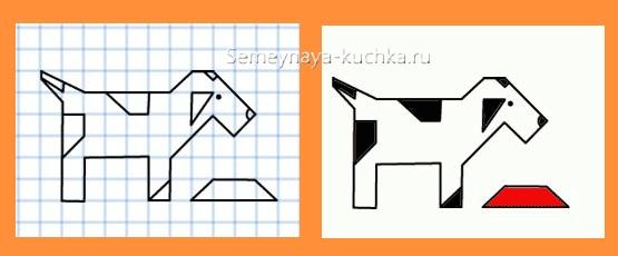 графический диктант с собачкой простые диагонали