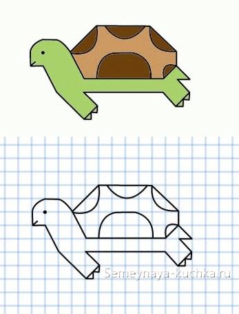 диктант графический с черепахой сложные элементы