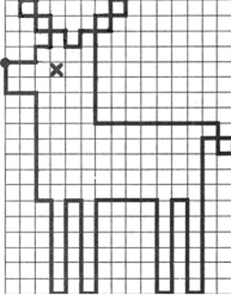 легкий графический диктант олень