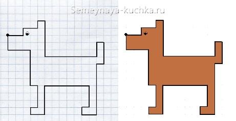 легкий графический диктант собака пес