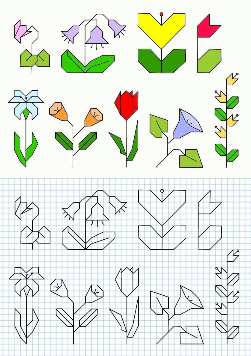 графический диктант с цветами