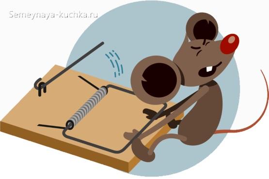 мышка рисованая графиа в мышеловке