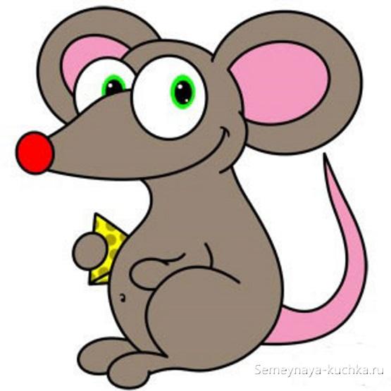 пошаговый урок рисунок мыши