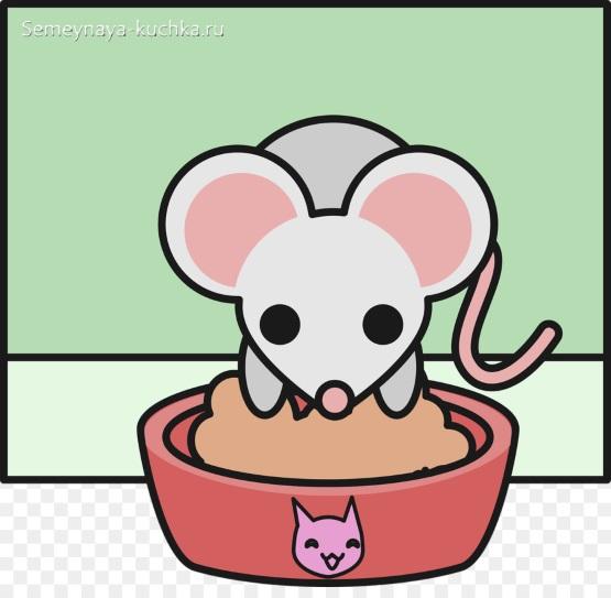 простой рисунок мышки детям