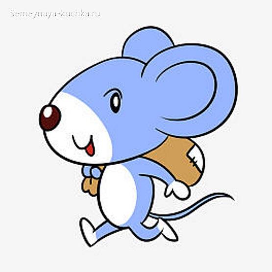 мышка бежит картинка для срисовки