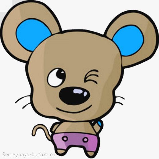 маленькая хитрая мышка простой способ нарисовать