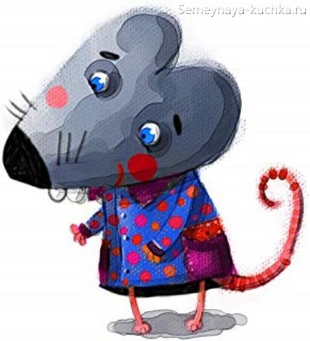 как нарисовать мышь для детской книжке