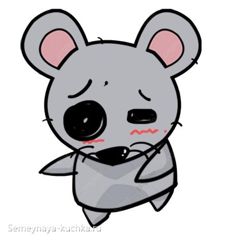 грустная мышь рисунок аниме своими руками