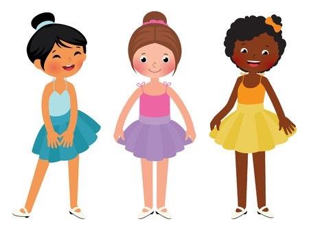 картинка три девочки