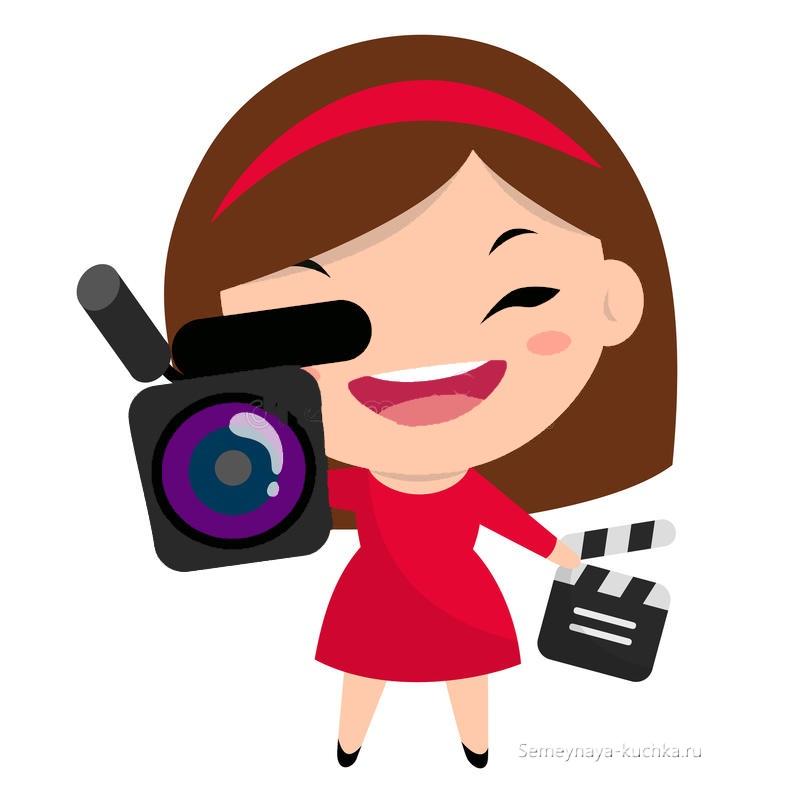 картинка девочка фотографирует