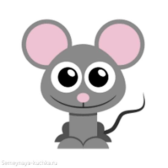 картинка мышь с большими глазами серая