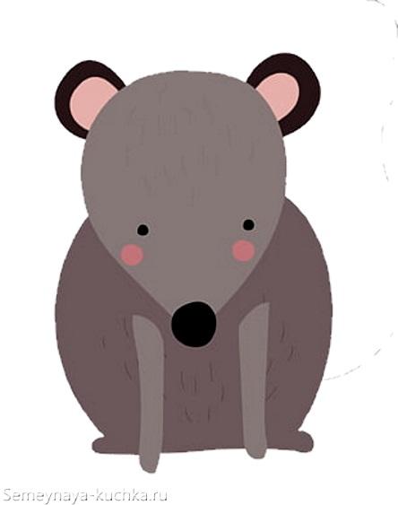 простая картинка мышь