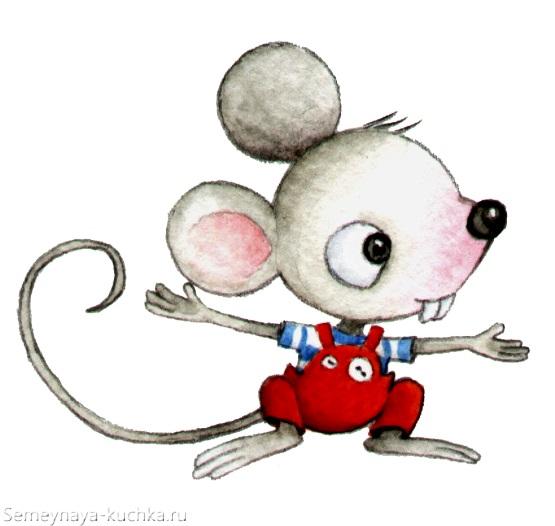 картинка милый мышонок