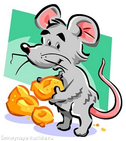 картинка мышь и кусочки сыра
