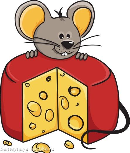 мышка с сыром красивый рисунок