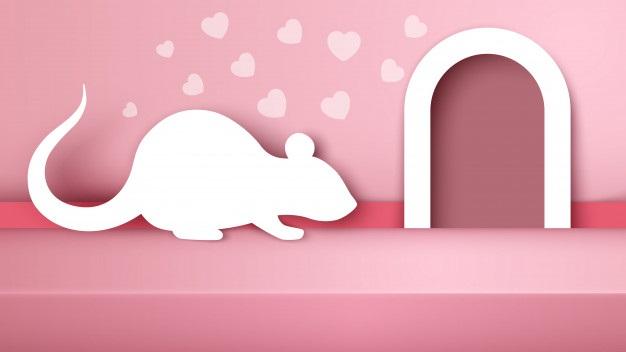 картинка графика мышка идет в норку