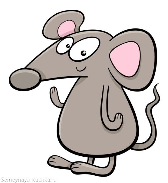 картинка мышь крыса серая графика
