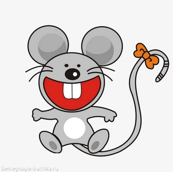 картинка позитивная мышка смеется графика