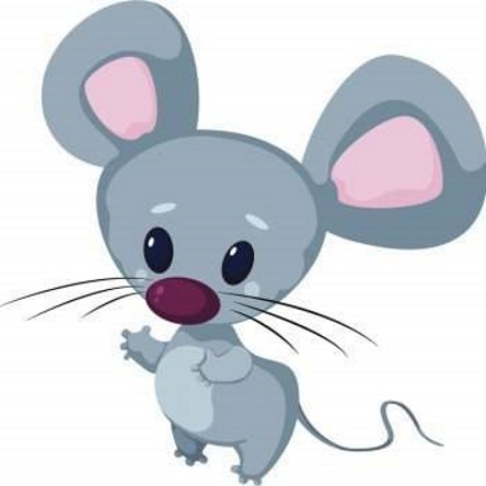 серая мышка для срисовки