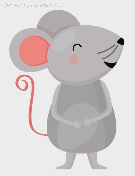 как нарисовать мышь графика детская