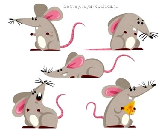 как нарисовать мышку 5 вариантов