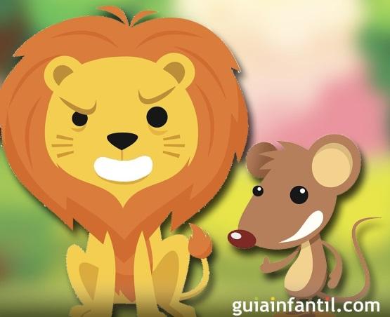 лев и мышка картинка