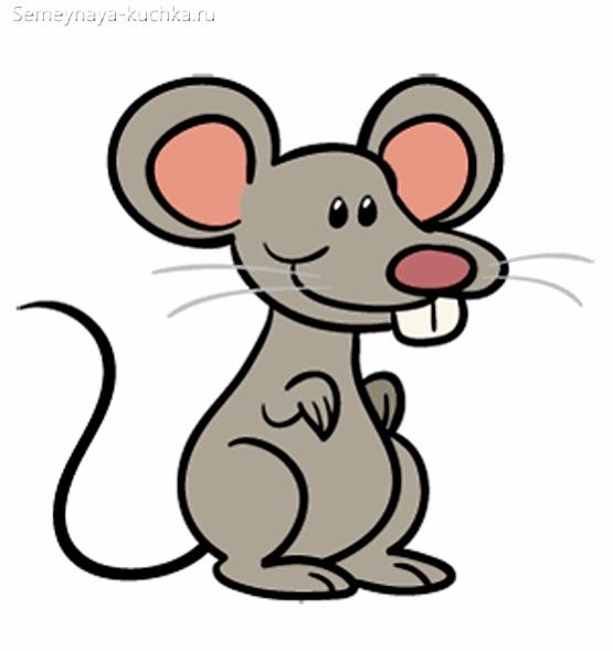 мышка картинка простая