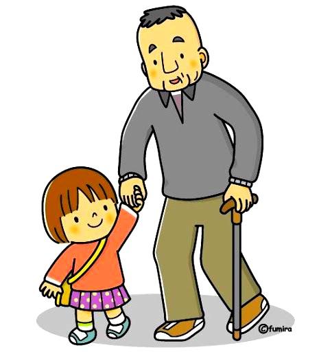 картинка дедушка и внучка