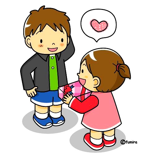 картинка дети дарят подарки друг другу