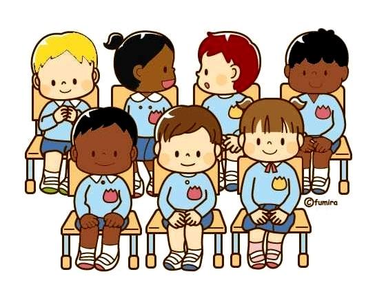 картинка дети сидят на стульчиках