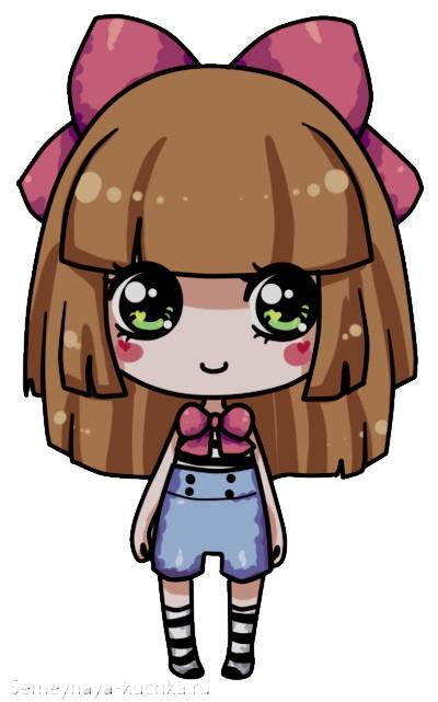 картинка девочка кавайная