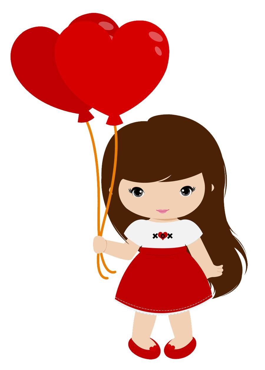 картинка девочка с шариками