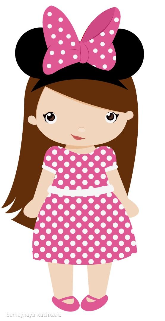 картинка девочка в платье в горошек
