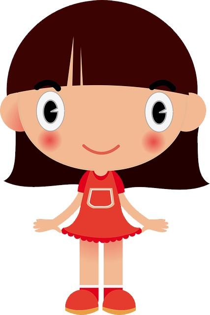 картинка девочка с челкой