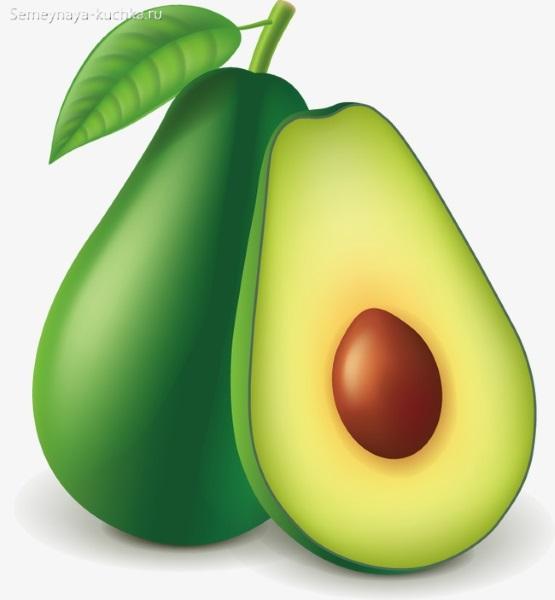 картинка фрукт авокадо